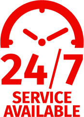 24/7 Available Service